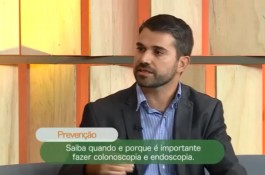 Dr. César Elias, gastroenterologista do HDP, em entrevista à Band TV